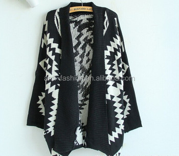 Latest Autumn Winter Heavy Chunky Poncho Aztec Knitted Womens ...