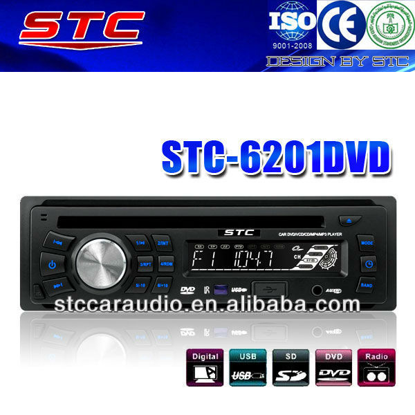 1 Din Car DVD with Detachable Panel STC-6201