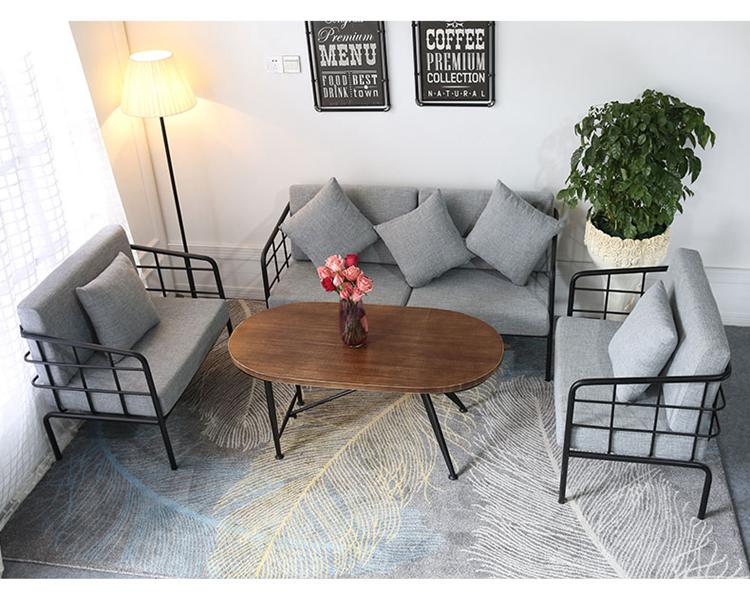 Loft Estilo Oficina Muebles De Hierro Forjado Combinación Sala Sofá ...