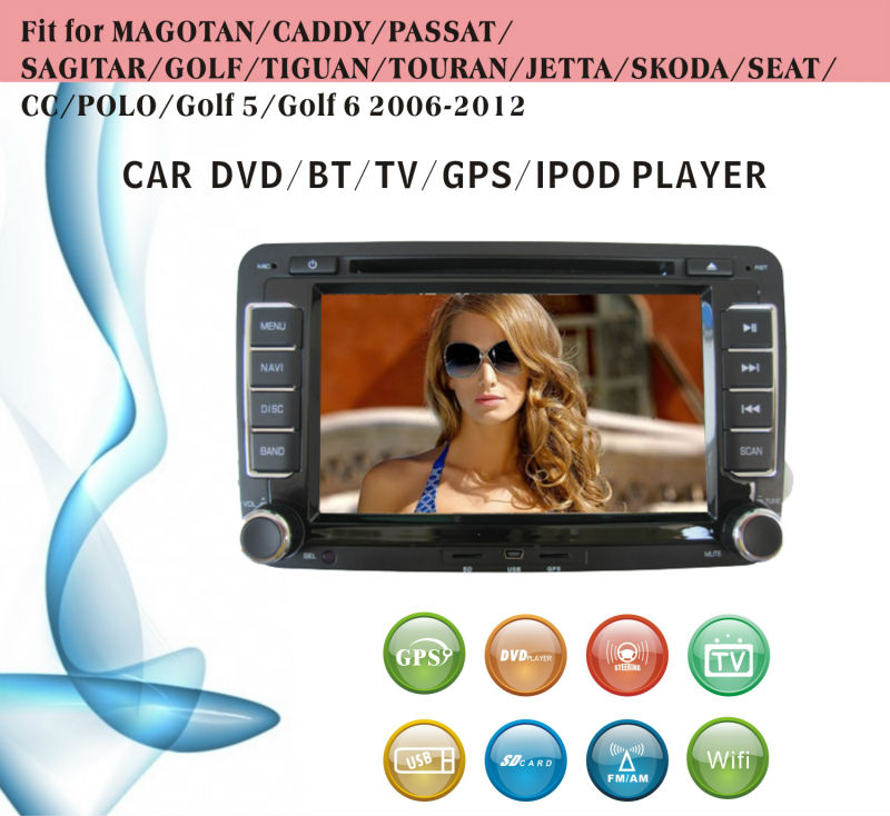 dvd car fit for VW Magotan Caddy Passat with radio bluetooth gps tv