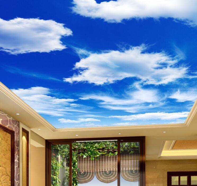 Sky Cloud Ceiling Wallpaper Pvc 3d Effect Ceiling Mural Vinyl