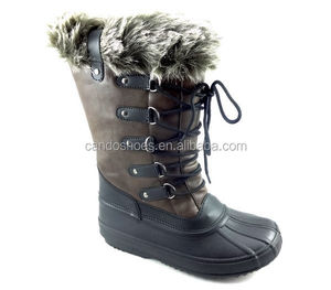 Men White Dress Leather Sole Shoes Canada Winter Snow Boots For Women