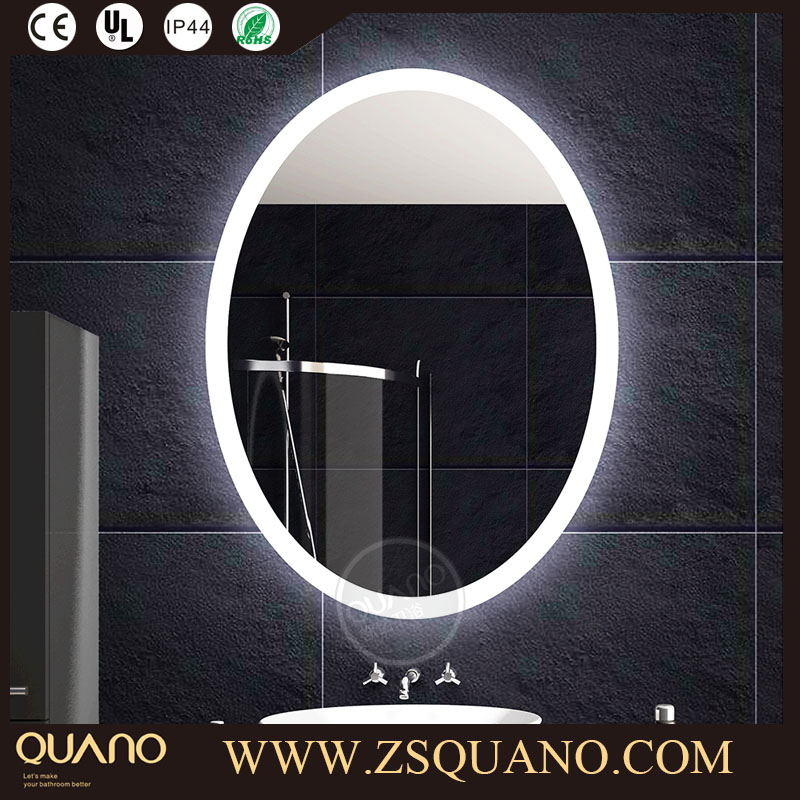 Modern Vanity IP44 Rated Oval Mirror with Backlit LED Light for the Bathroom