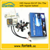 China electronic 24v 75w HID Xenon Kit H7 with regular ballast,4300k to 12000k