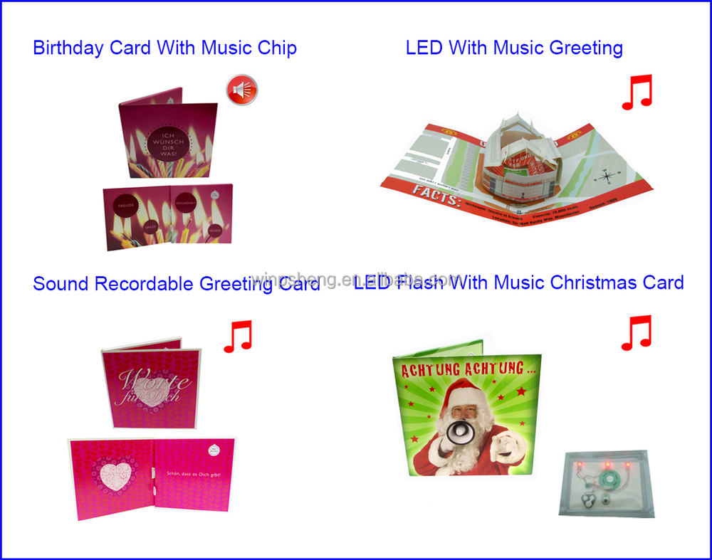 New Process Design Voice Recorder Sound Module For Greeting Card