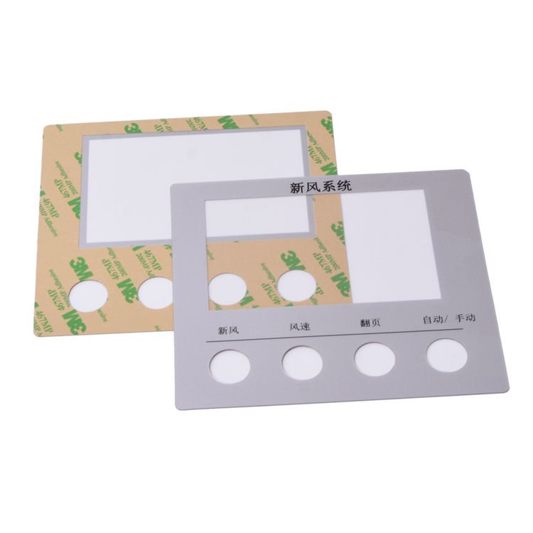 factory direct produce pc polycarbonae front electrical panel adhesive label sticker