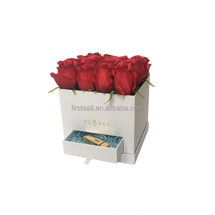 Factory price roses box packaging flower With drawer