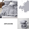 Enzyme stone wash 100% french linen natrual king size duvet cover sheet sets