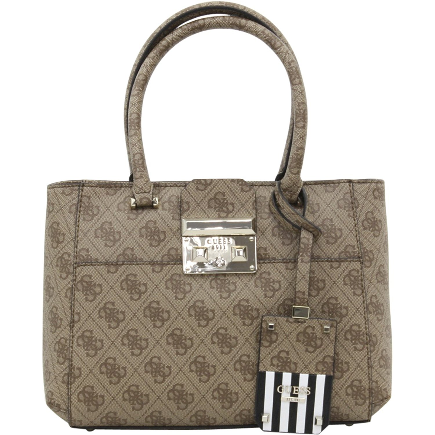 655c45cf10 Get Quotations · Guess Women s Martine Small Top Handle Framed Satchel  Handbag