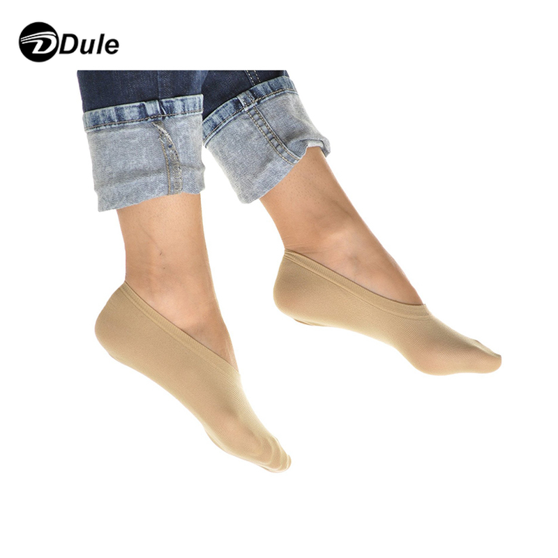 DL-II-0283 lady nylon foot socks invisible women skin color socks