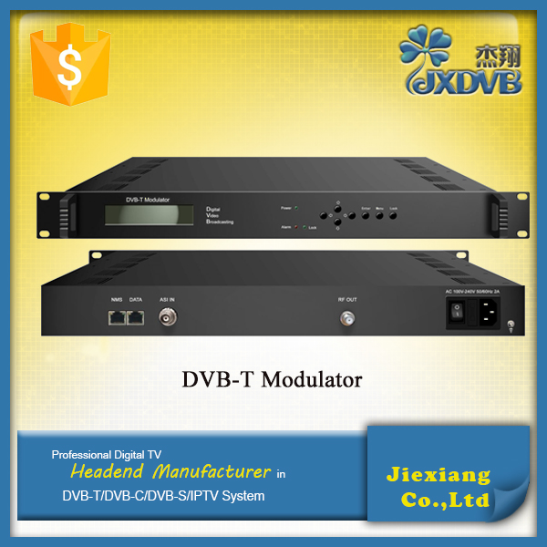 Pro IP to RF DVB-T Modulator with LCD and Keyboard operation