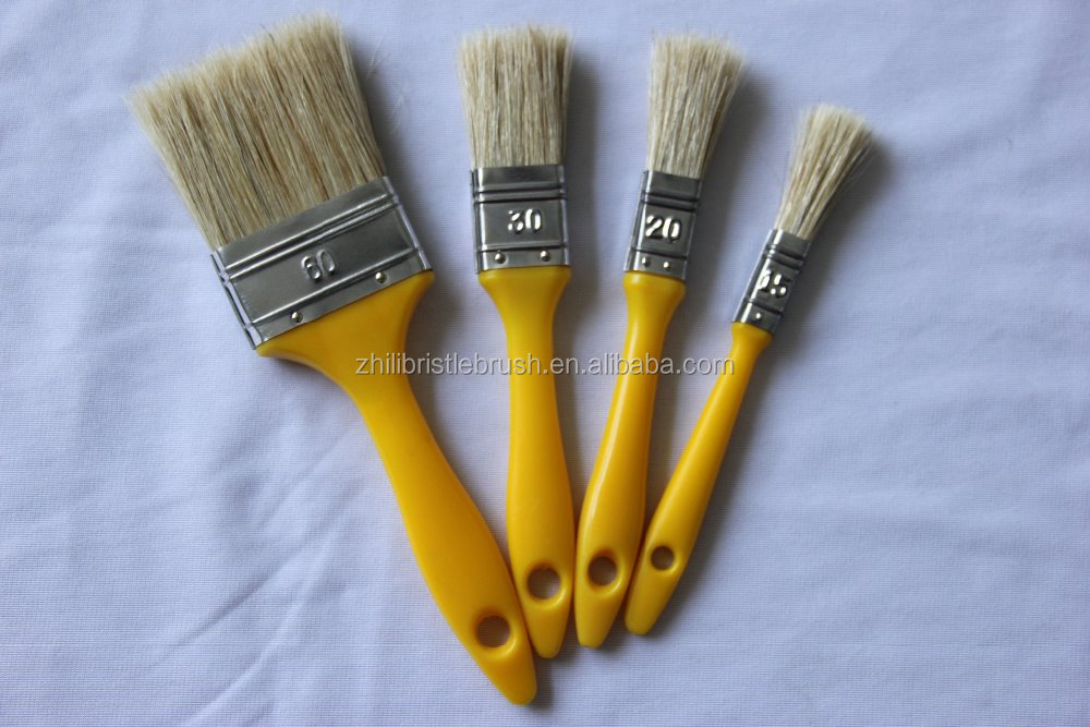 Boiled bristle mixed synthetic filament Paint Brushes Wholesale