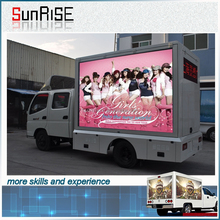 Outdoor full color Walking led mobile advertising display for truck usage