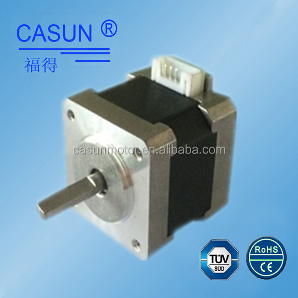 High precision 2 phase smoothly 39mm bipolar motor 0.4A single flat shaft mini stepper motor nama 16 with 4 wire