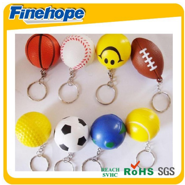 Customize smile high bouncing rubber stress ball
