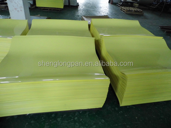 Colorful ABS/PVC/HIPS plastic sheet yellow