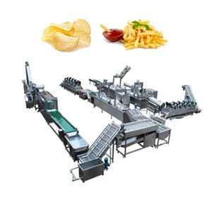 full automatic stainless steel wafer processing machinery for french fries potato chips making factory production line