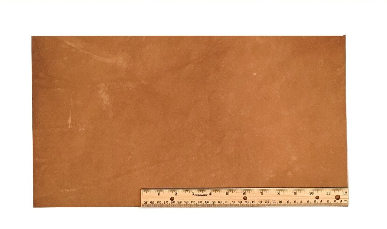 "Scrap Lace Leather Light Brown Cowhide 10"" X 18"" Piece"