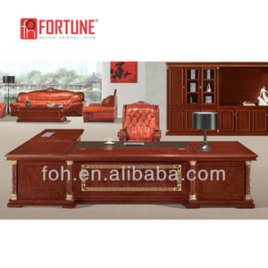 High End Hand Carved Executive Desk Luxury Office Furniture (FOHT-01)