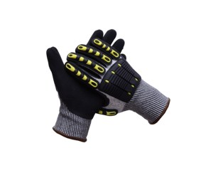 Specialized TPR Cycling Gloves,Extreme Cut Resistant PU Palm Nitrile Coated Gloves During Climbing