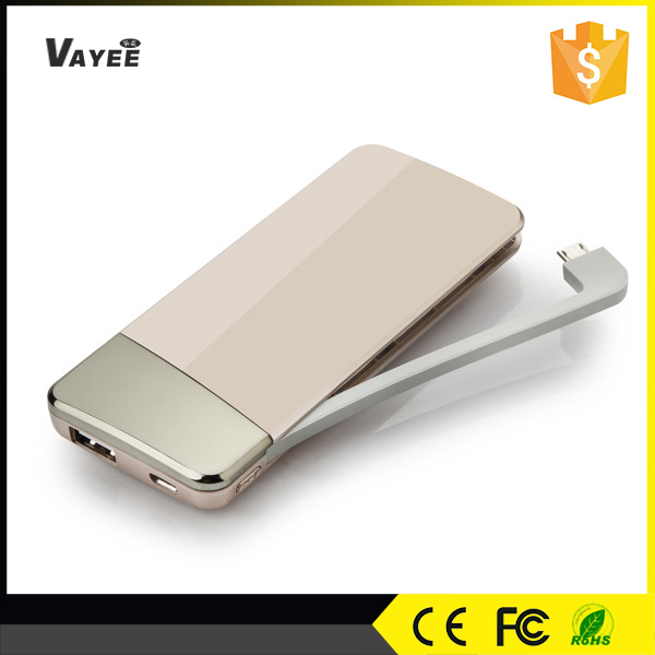 new unique product ideas,5500mah power bank charger with charging cable