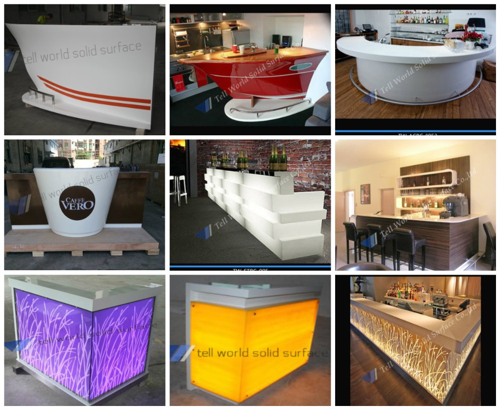 Commercial wine bar counters marble restaurant counter for Commercial wine bar design ideas