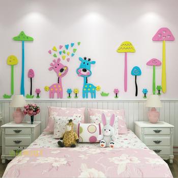 Cartoon Creative Forest Deer Yakeli Solid Wall Decoration Children S Room Kindergarten Decorative Acrylic