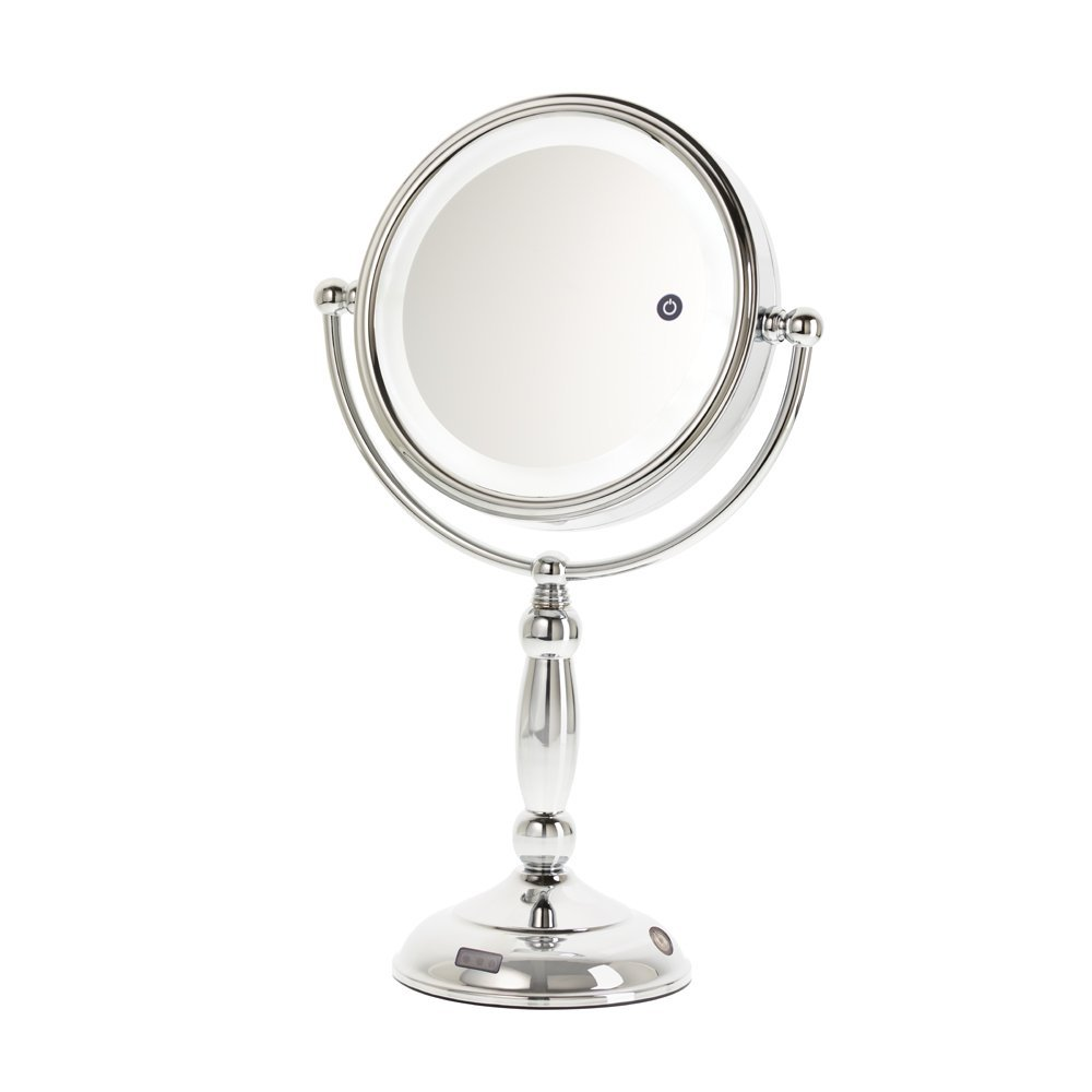 8a7d7d172f Get Quotations · Danielle LED Lighted Day/Night/Office Makeup Mirror with  Auto Off, 10X Magnification