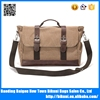 Suitable for men khaki color canvas messenger bag for 14 inch laptop