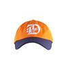 2018 trendy popular youth orange plain cotton strapback 6 panel baseball caps