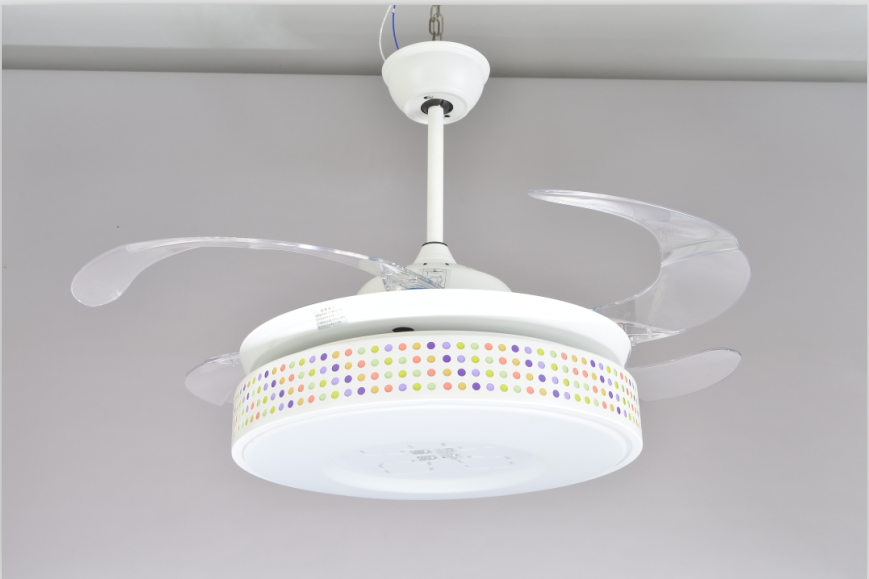 56w Led Ceiling Light With Plastic Fan For Remote Control