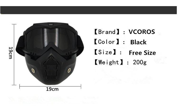 Motocross Óculos De Proteção Óculos de sol Rosto Máscara de Poeira Com  Destacável Motocicleta Oculos Gafas 619e4ed0e9