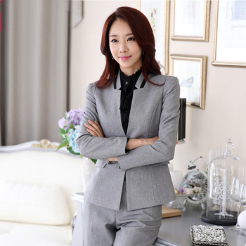 5e6ae3c3859 Women New Business Office Formal Blazer Trousers Tailored Pink Blue Pants  Suit