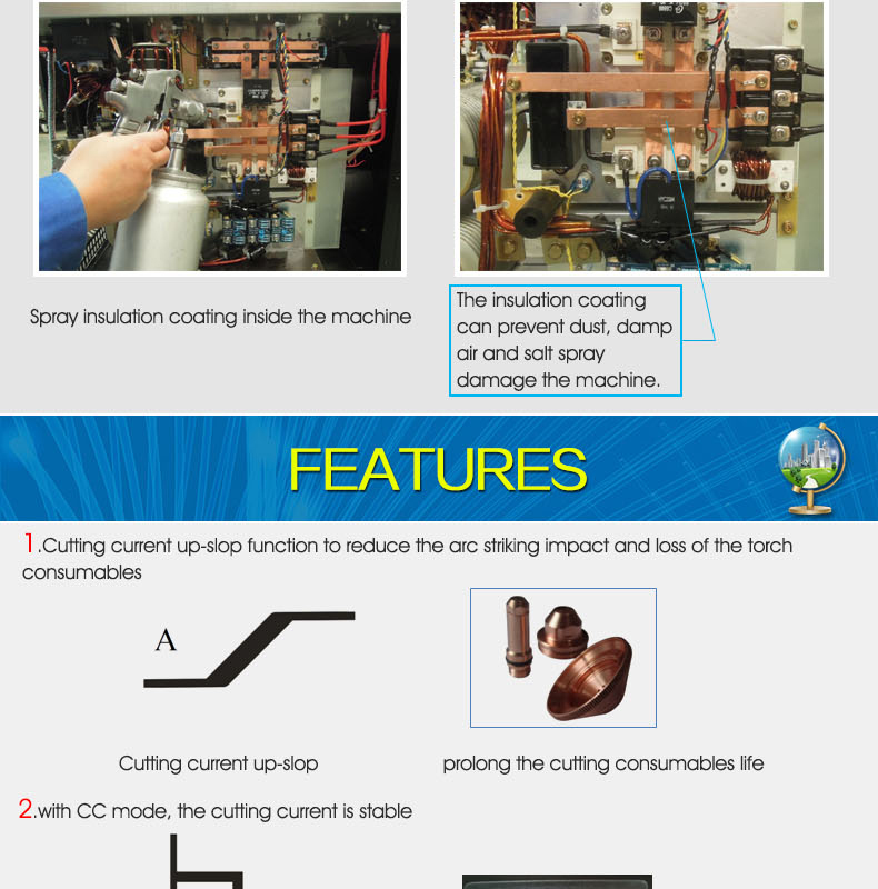 Industrial air plasma cutter