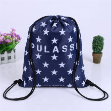 Wholesale custom star pattern nylon drawstring bag