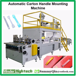 Automatic Corrugated Carton Packaging Carrier Installing Machine