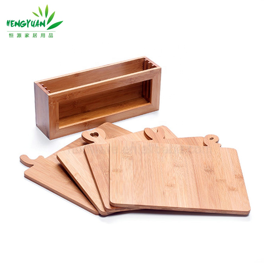 Love bamboo classification index chopping cutting board set with stand