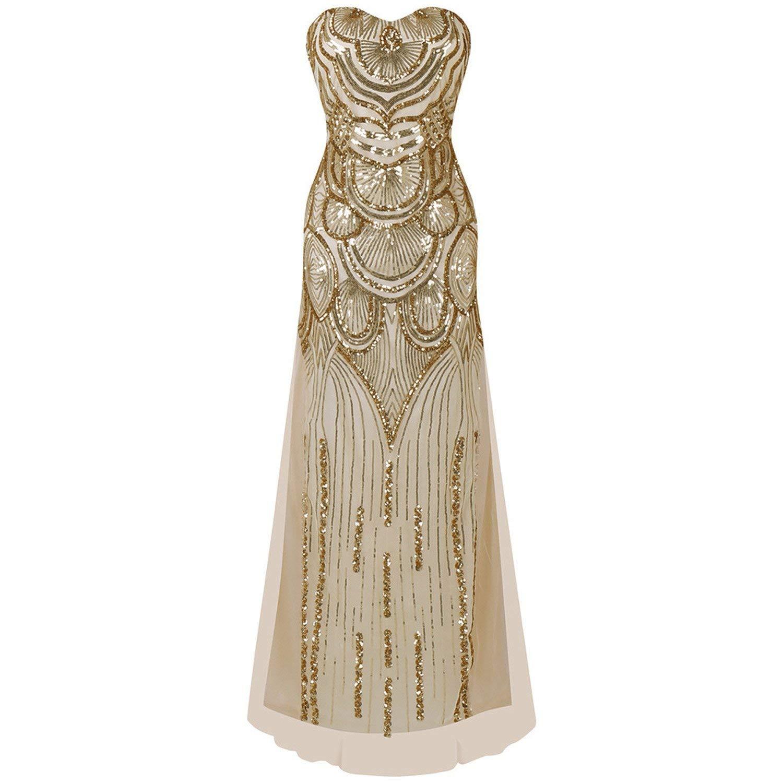 e5ef7806c20 Get Quotations · dresses s Dress Fan Shape Sequin Tube Top Dress Elegant  Slim Full Dress