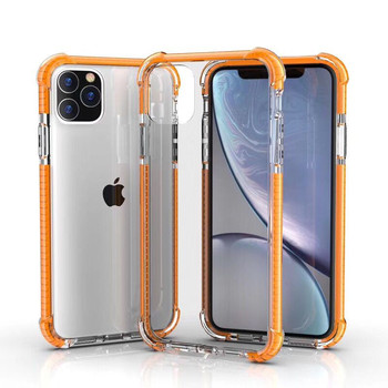 For Iphone 11Case Crystal Hybrid Bumper Clear Hard Acrylic Back Transparent shock proof Phone Cases