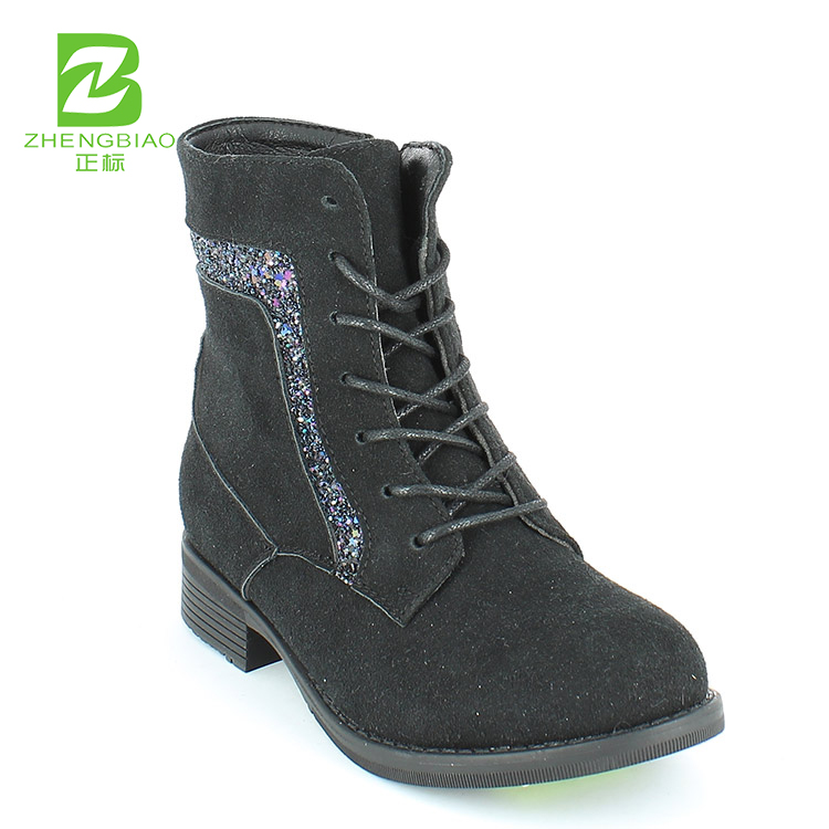 Casual glitter ankle boots shoes for kids girls