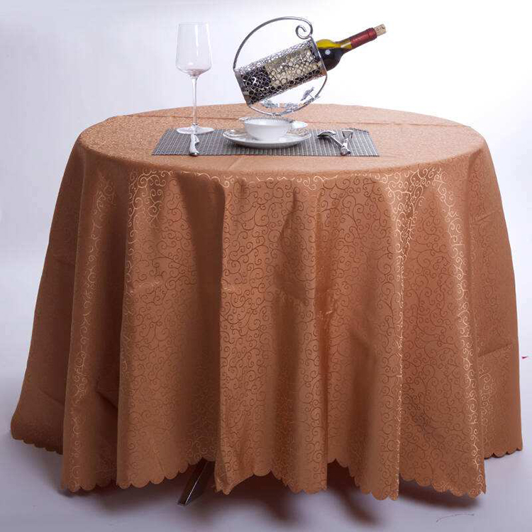 Custom Logo Luxury new designs Fancy party Custom ruffled lace damask satin polyester or spandex Yellow grey table cloth