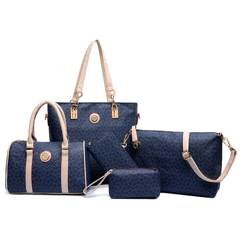 94a406bd258 Hot sale 6 pcs lady set bag Women handbag with shoulder  bag+Totes+clutch+key holder, View Women handbag, Add your logo Product  Details from Baoding ...