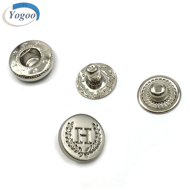 Factory Price Custom Round Gun Metal Strong Snap Button for Garment