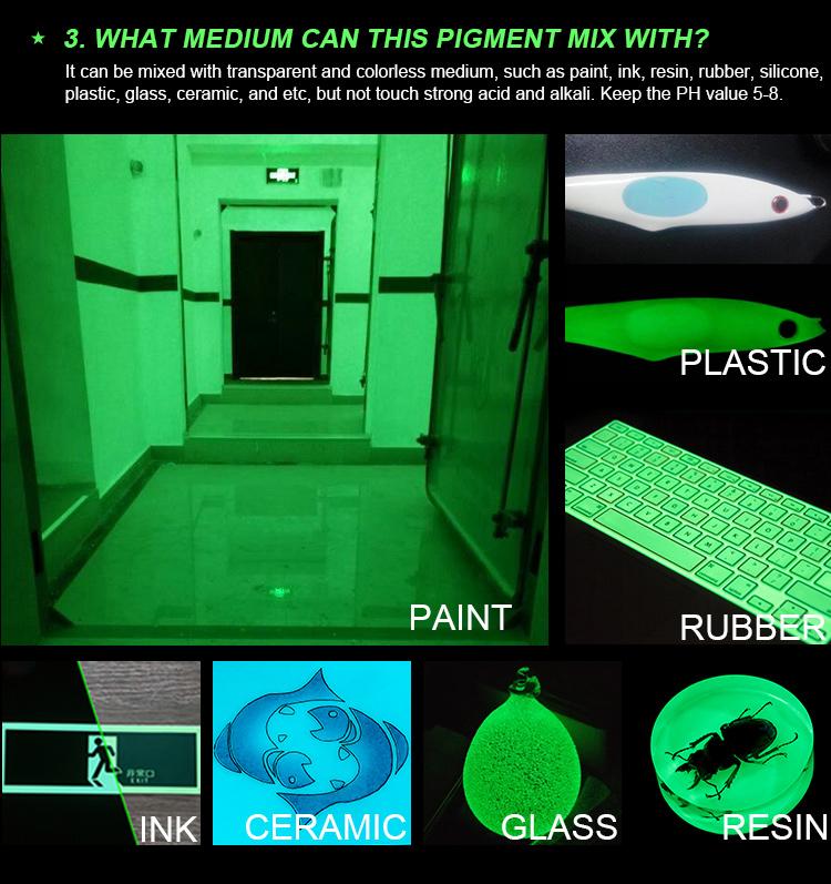 Beste Geel-Groene Gloed In Het Donker Pigment Fosforescerende Poeder Voor Glow In The Dark Tattoo Inkt Fotoluminescerende Inkt
