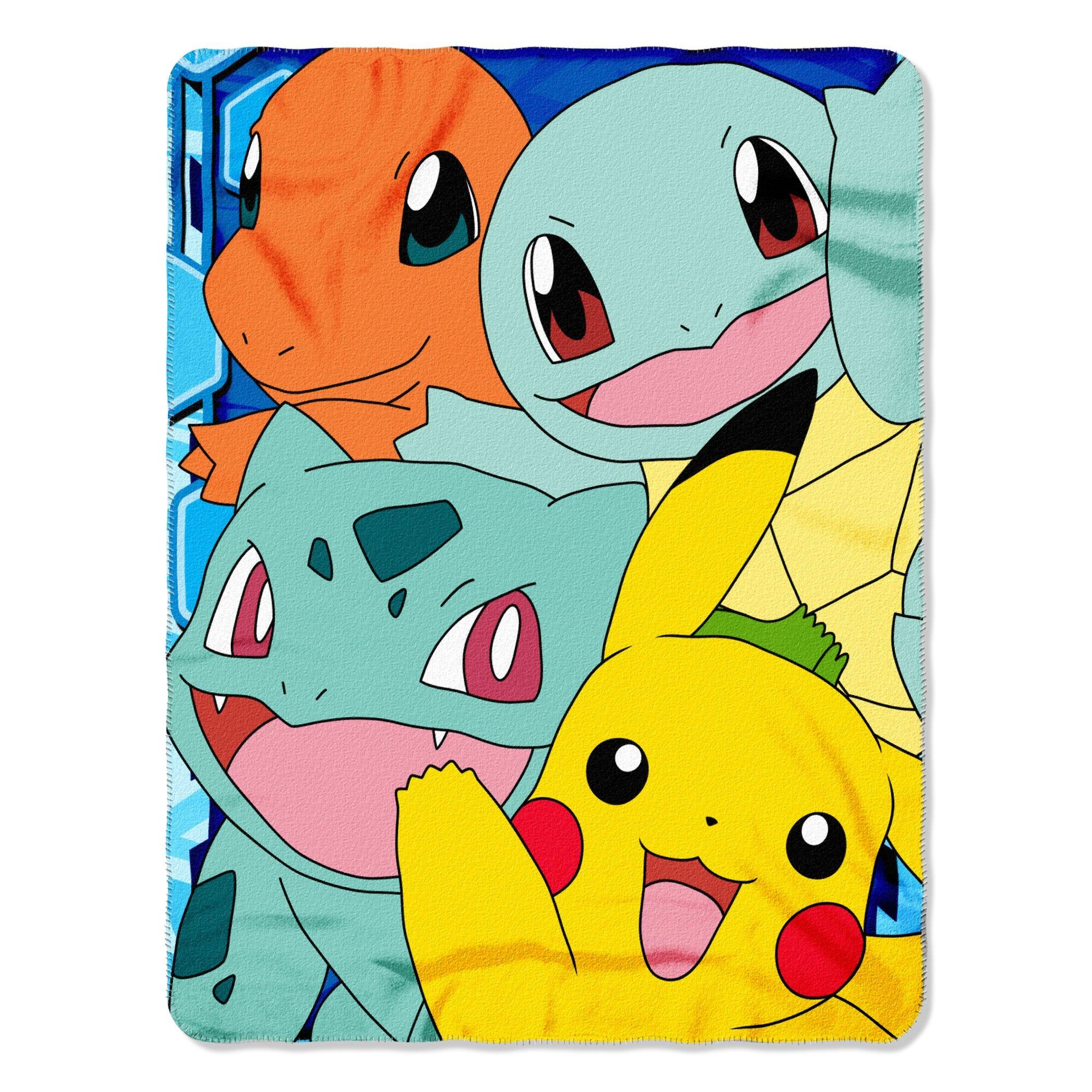 "Pokémon, ""Meet The Group Fleece Throw Blanket 45"" x 60"""