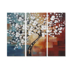 Tree photo hand painting oil on canvas wallpaper mural