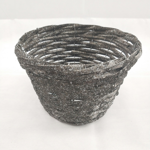 Lowes willow rattan flower pots with polyfoam