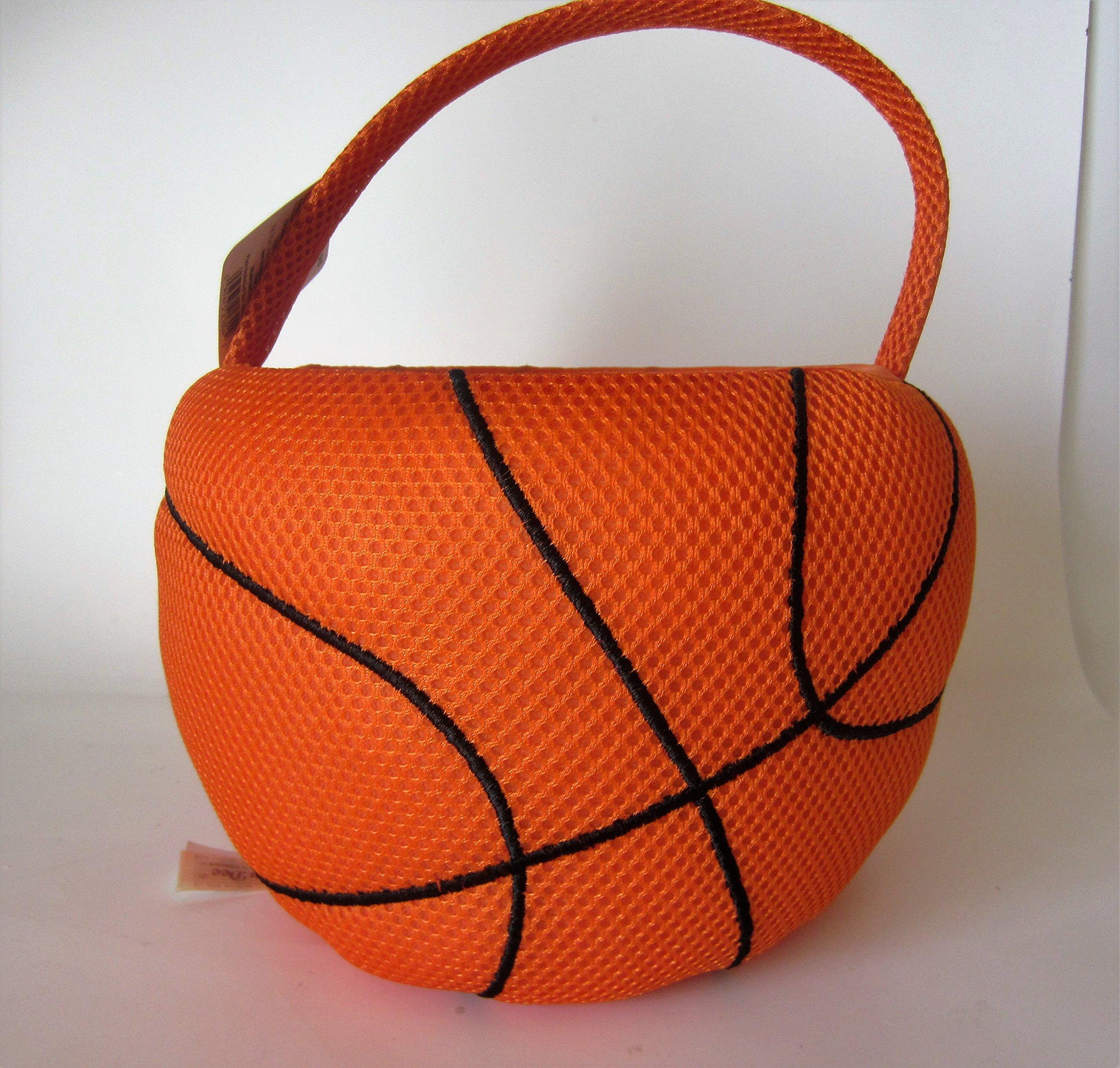 Plush Basket ball Easter Basket or Halloween Basket