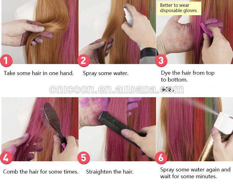 Without Chemicals Hair Color Dye Chalk Korean - Buy Korean Hair ...