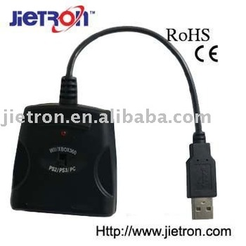 USB Audio Adapter for PS2, PS3, XBOX 360, WII and PC (JT-0110204)